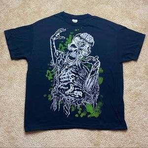 Gildan Mens Black Zombie Short Sleeve Tee XL